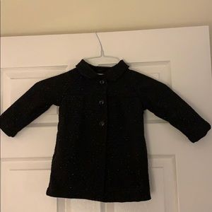 Sparkly Pea Coat With Snap Closure